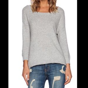 Soft Joie Ranger heather gray knit sweater sz L